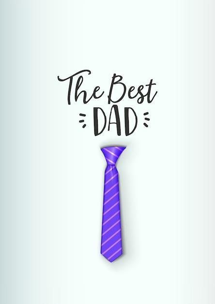 Día del padre - plantilla hecha a mano. logotipo de objeto vector aislado es una insignia para su diseño Vector Premium