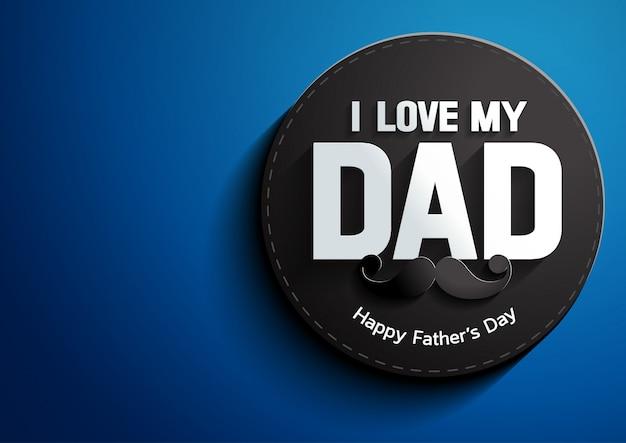 Día del padre sobre fondo azul Vector Premium