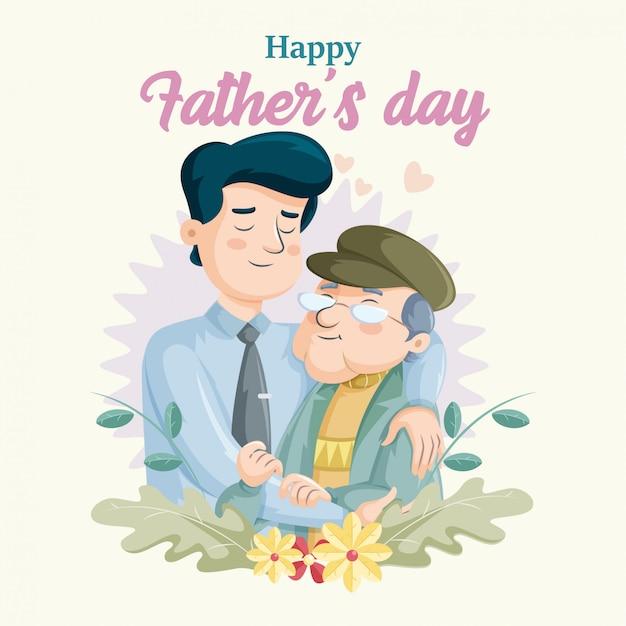 Dia del padre Vector Premium