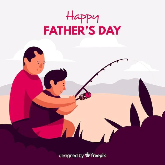 Día del padre vector gratuito