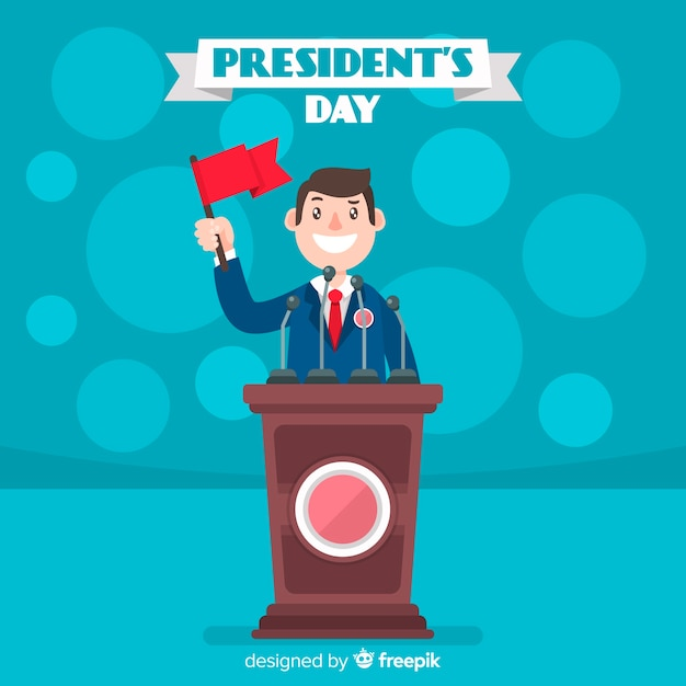 Día del president vector gratuito