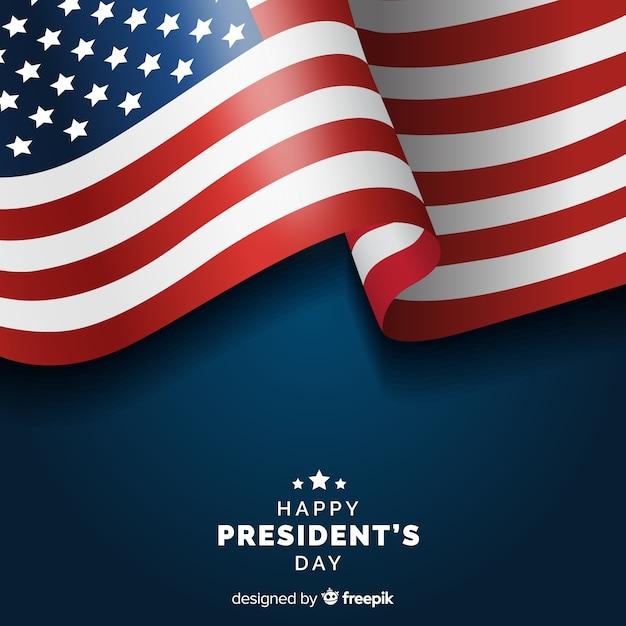 Día del presidente vector gratuito