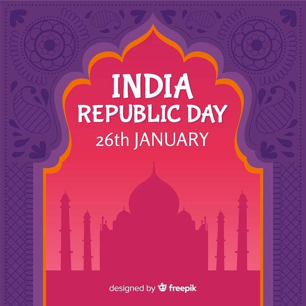 Día de la república de la india vector gratuito