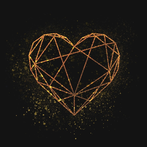 Dia de san valentin corazon vector gratuito