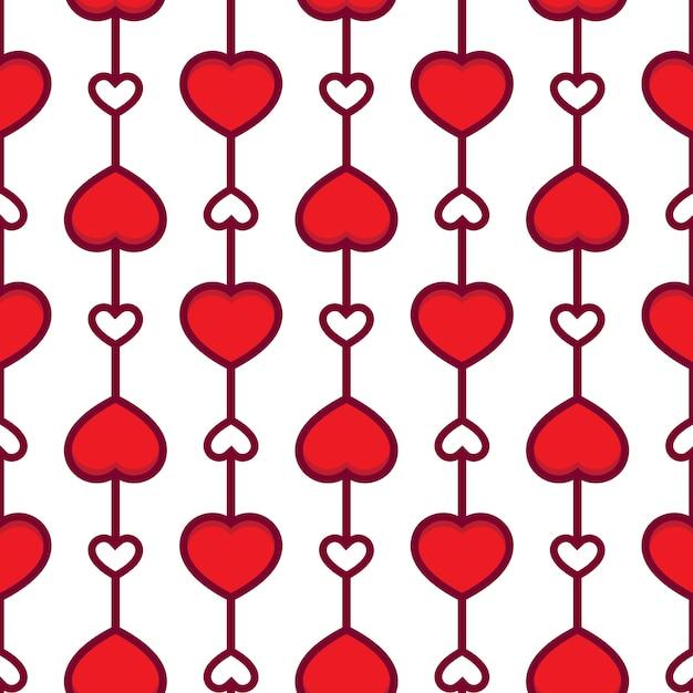Día de san valentín fondo de patrones sin fisuras con corazones ...