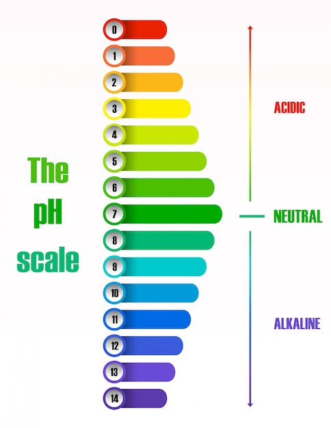 El diagrama de la escala de ph vector gratuito