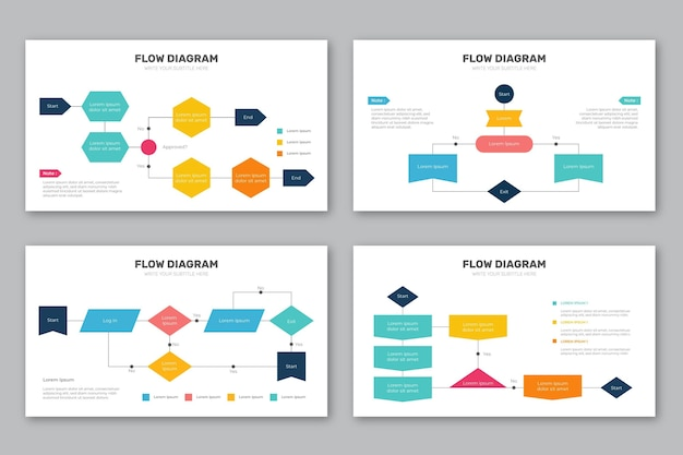 Diagrama de flujo de la colección de infografía vector gratuito