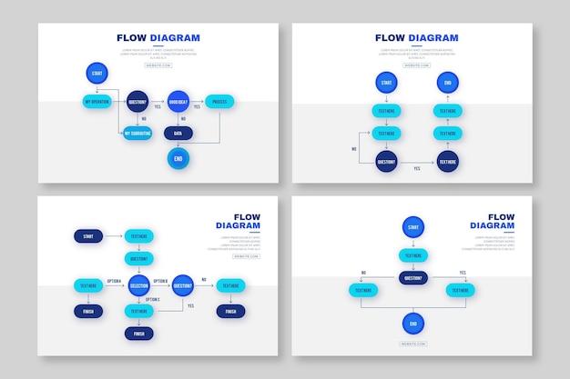 Diagrama de flujo infográfico vector gratuito