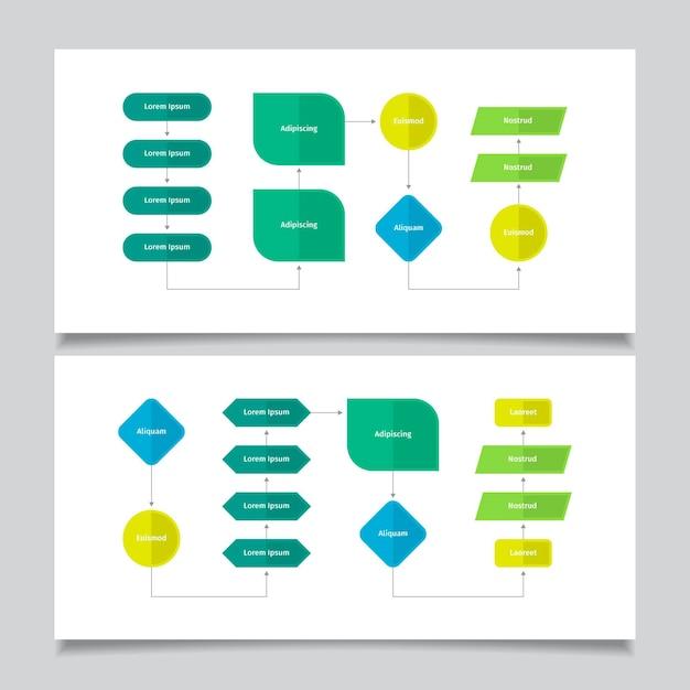 Diagrama de flujo infográfico Vector Premium