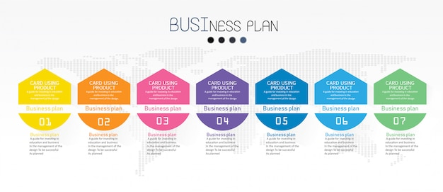 Diagrama de negocios y educación ilustración vectorial Vector Premium