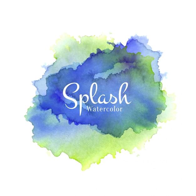 Dibujado a mano colorido splash acuarela vector gratuito