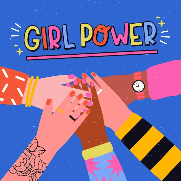 Dibujado a mano el día internacional de la mujer vector gratuito
