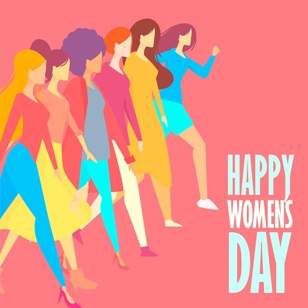Dibujado a mano el día de la mujer vector gratuito