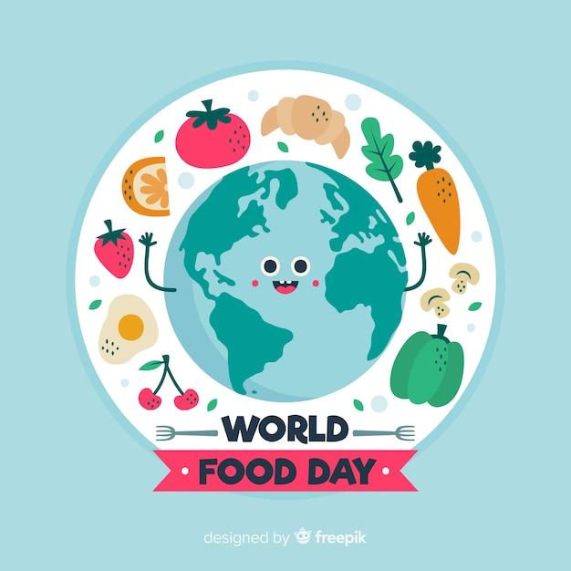 Dibujado a mano día mundial de la alimentación vector gratuito