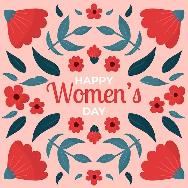 Dibujado a mano floral día de la mujer vector gratuito