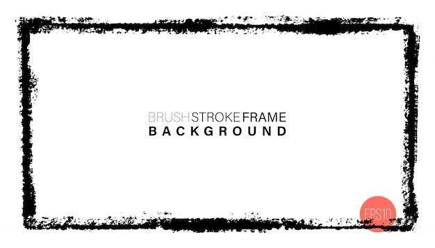 Dibujado a mano grunge marco de forma rectangular. Vector Premium