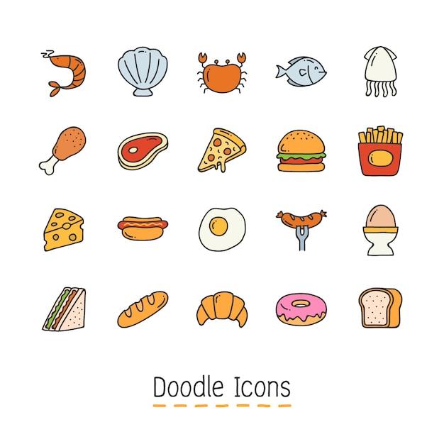 Dibujado a mano icono de doodle. Vector Premium