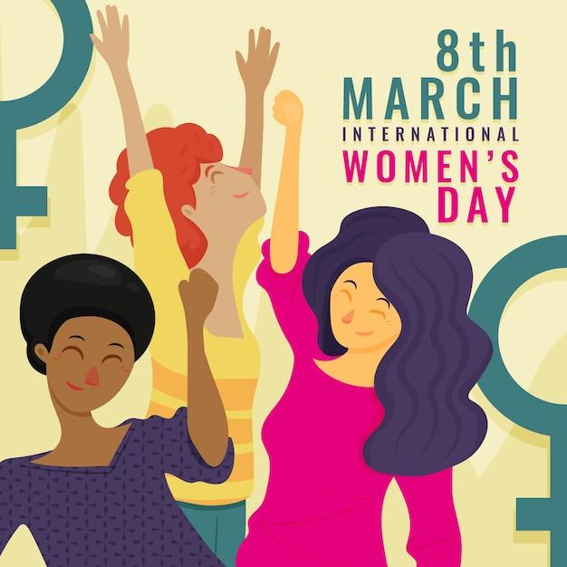 Dibujado a mano ilustración del día internacional de la mujer vector gratuito