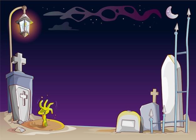 Dibujado a mano marco de halloween vector gratuito