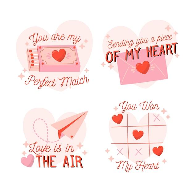 Dibujado a mano plantilla de etiqueta de fiesta de san valentín vector gratuito