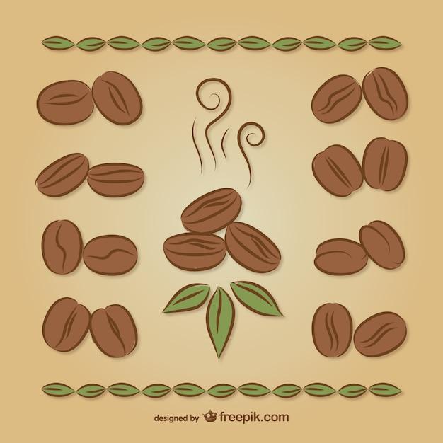 Dibujo a color de granos de café | Descargar Vectores gratis