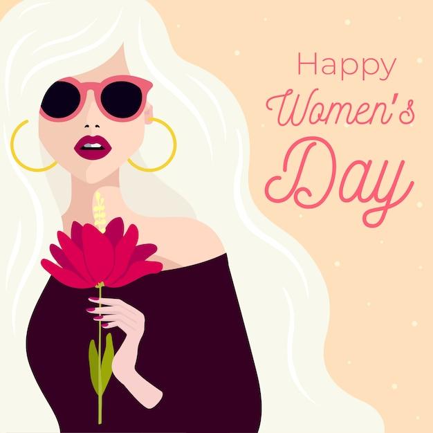 Dibujo para el concepto del día de la mujer vector gratuito