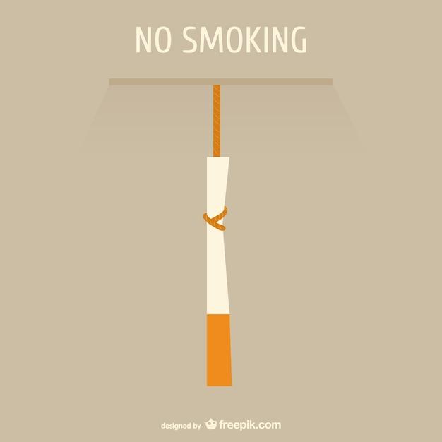 Dibujo conceptual prohibido fumar Vector Gratis