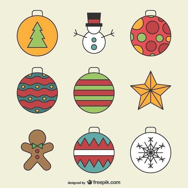 dibujo de adornos de navidad descargar vectores gratis