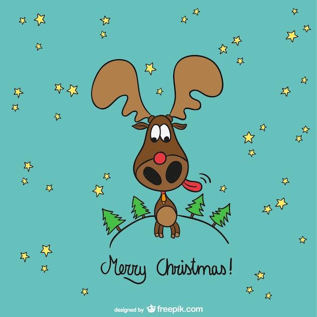 Dibujo de alce con mensaje de feliz navidad descargar - Dibujos navidad gratis ...