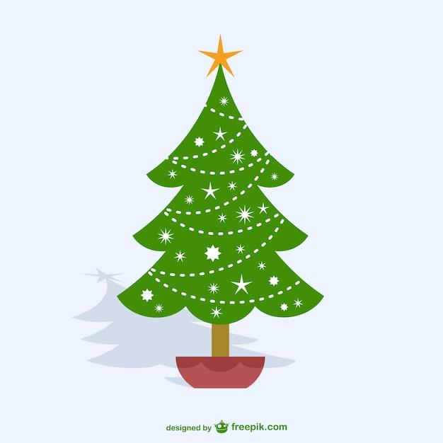dibujo de rbol de navidad vector gratis - Dibujo De Arbol De Navidad