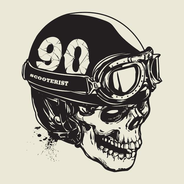 Dibujo De Cr 225 Neo Con Casco De Moto Vintage Descargar