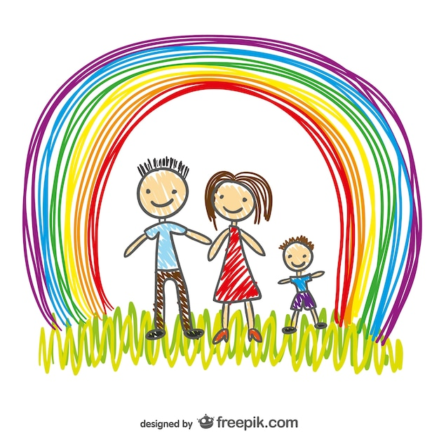 Free Vector Happy Family