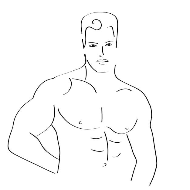 Dibujo de hombre sexy | Descargar Vectores gratis