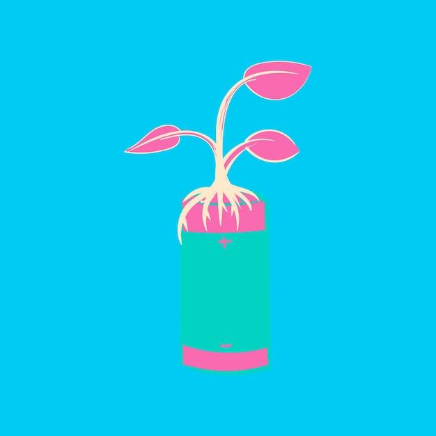 Dibujo a mano ilustración conjunto de ambiente sostenible vector gratuito