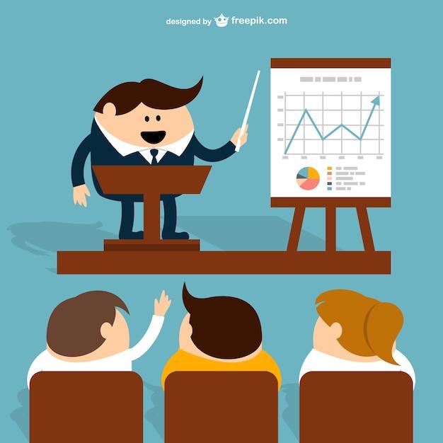 Dibujo de presentación de negocios vector gratuito