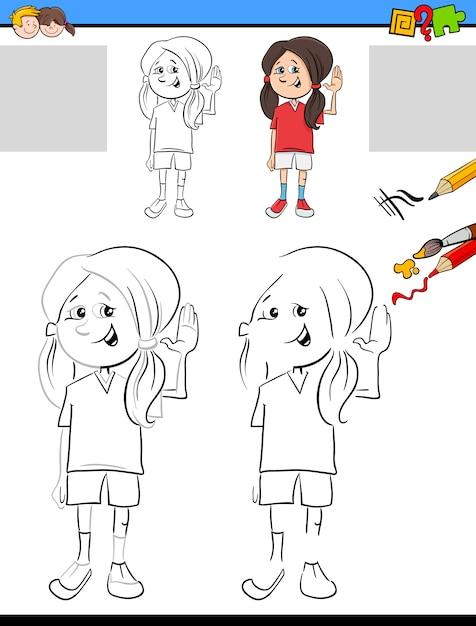 Dibujo y colorante para niños | Descargar Vectores Premium
