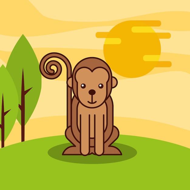 Dibujos animados de animales de safari vector gratuito