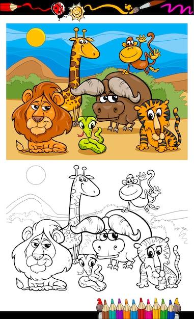 Dibujos Animados De Animales Salvajes Para Colorear