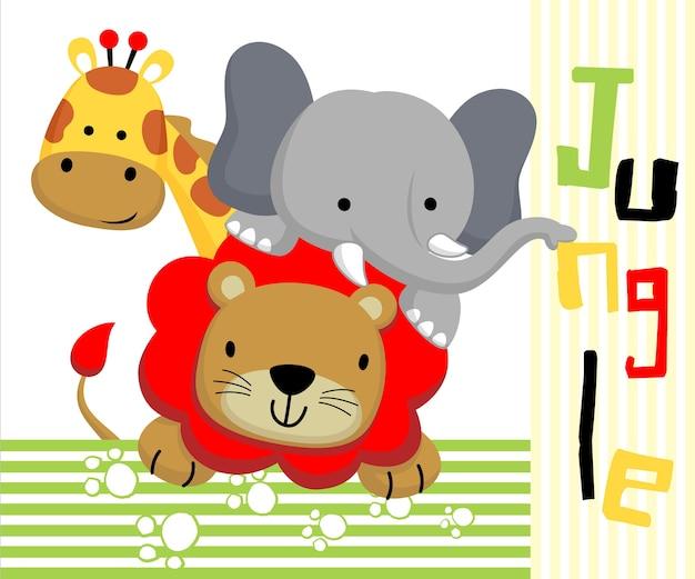 Dibujos Animados De Animales De La Selva