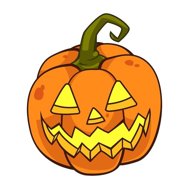 Dibujos Animados De Calabaza De Halloween Descargar Vectores Premium - Calabazas-animadas