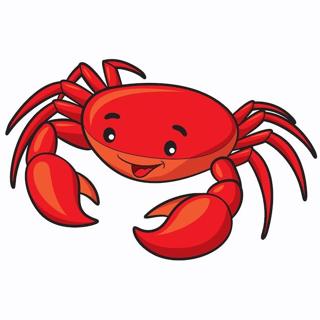 Dibujos animados de cangrejo | Vector Premium