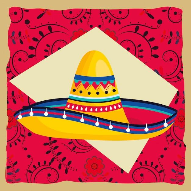 Dibujos animados de la cultura mexicana Vector Premium