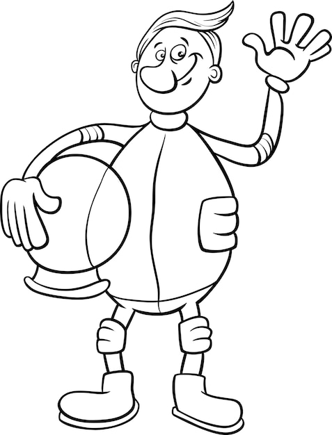 Dibujos animados de astronauta para colorear | Descargar Vectores ...