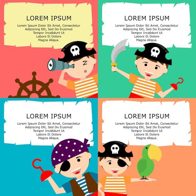 Dibujos animados de cabrito pirata | Descargar Vectores Premium
