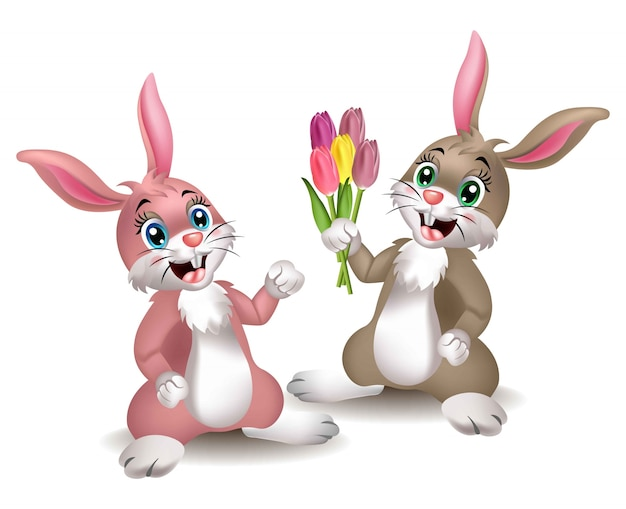 Dibujos Animados De Conejos Lindos