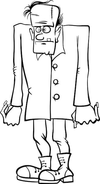 Dibujos animados de frankenstein para colorear libro | Descargar ...