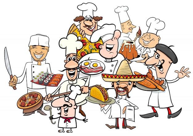 Resultado de imaxes para cocineros dibujos