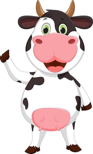Dibujos animados de vaca feliz | Descargar Vectores Premium