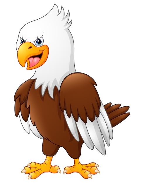 Dibujos animados divertido águila descargar vectores premium