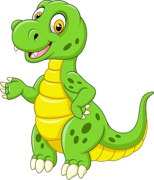 Dibujos Animados Divertido Dinosaurio Verde Vector Premium Mochila infantil con forma de dinosaurio de color verde. https www freepik es profile preagreement getstarted 2122138